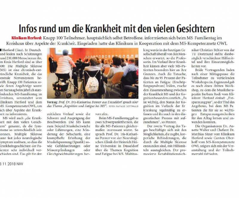 MS-Familientag in Herford am 10.11.2018